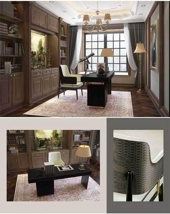 140平米三室两厅新古典风格书房图片