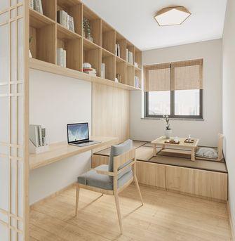 80平米三室两厅日式风格书房装修效果图