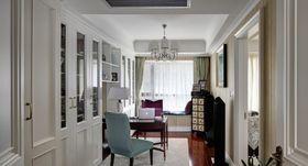富裕型140平米四室兩廳美式風格書房欣賞圖