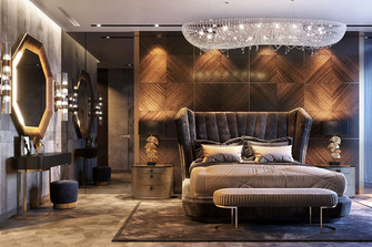 140平米四室三厅混搭风格卧室装修案例