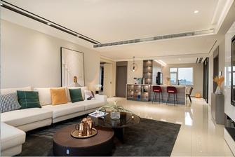 130平米三室两厅现代简约风格客厅装修案例