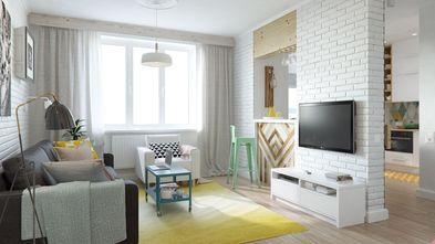 80平米一室两厅北欧风格客厅图片大全