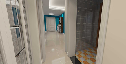 120平米三北欧风格走廊装修案例