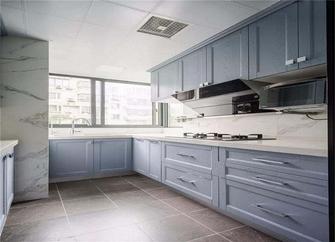 80平米三室一厅现代简约风格厨房图