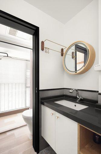 80平米三室两厅日式风格卫生间图片