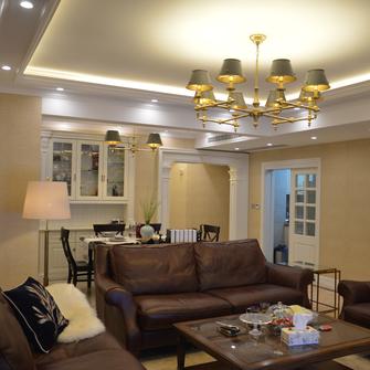 110平米日式风格客厅设计图