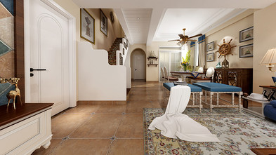 豪华型140平米复式地中海风格客厅图