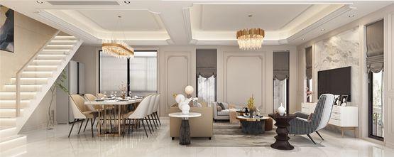 110平米别墅法式风格客厅装修效果图