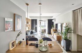 80平米三室兩廳北歐風格餐廳圖片大全