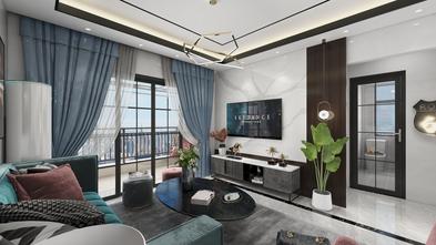 70平米三室两厅现代简约风格客厅装修图片大全