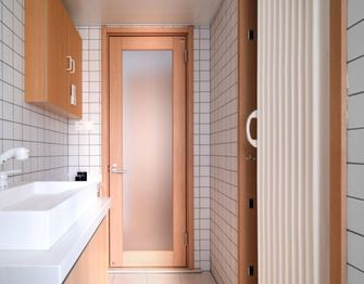 120平米三日式风格卫生间设计图
