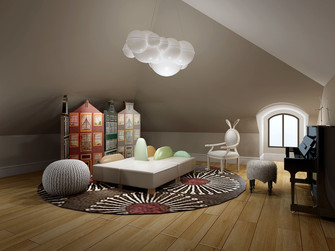 140平米别墅新古典风格阁楼设计图