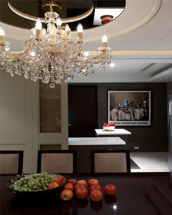 80平米公寓欧式风格餐厅效果图