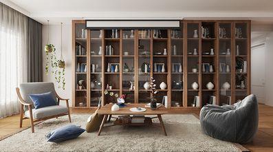130平米三日式风格书房图片