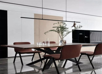 80平米现代简约风格餐厅设计图