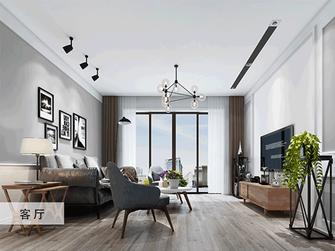 豪华型130平米三室两厅现代简约风格客厅装修效果图