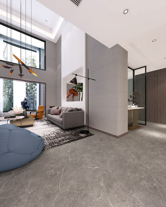 140平米复式现代简约风格客厅装修图片大全