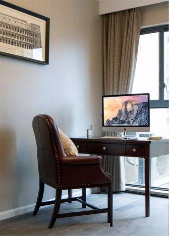 120平米三室一厅美式风格书房图片