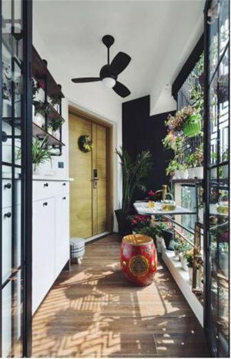 110平米三室两厅混搭风格阳光房设计图