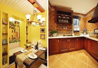 130平米三室两厅田园风格厨房欣赏图