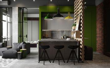 40平米小户型英伦风格餐厅效果图