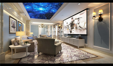 140平米复式欧式风格影音室装修效果图