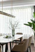 120平米三室一厅田园风格餐厅图