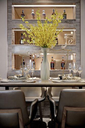 70平米三室一厅现代简约风格餐厅设计图