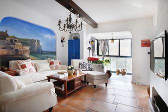 90平米一室两厅地中海风格客厅图片