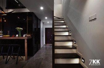 富裕型80平米现代简约风格楼梯装修效果图