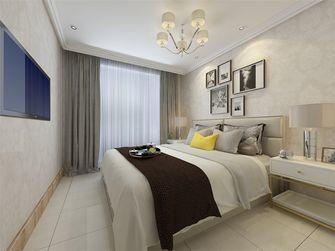 80平米现代简约风格卧室窗帘图