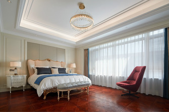 140平米别墅欧式风格卧室效果图