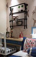 90平米英伦风格儿童房设计图