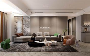 140平米复式现代简约风格客厅图