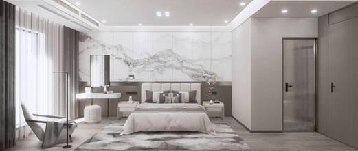 110平米三室一厅中式风格卧室图片大全
