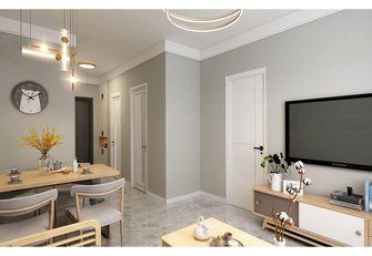 80平米现代简约风格客厅装修案例