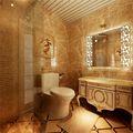 130平米三室两厅欧式风格卫生间壁纸效果图