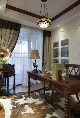 100平米三室一厅美式风格书房欣赏图