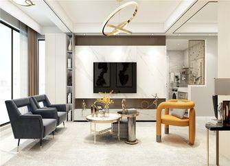 90平米复式现代简约风格客厅图