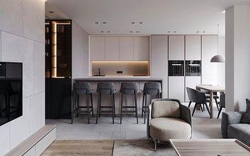 90平米一室一厅现代简约风格餐厅装修效果图