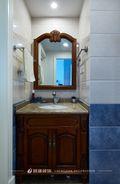 110平米三室两厅美式风格卫生间欣赏图