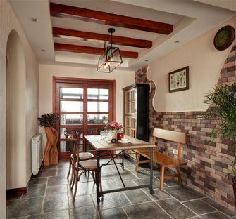 80平米三室两厅地中海风格餐厅装修案例