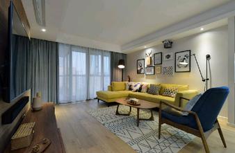 130平米三北欧风格客厅图片
