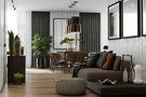 80平米公寓现代简约风格玄关欣赏图