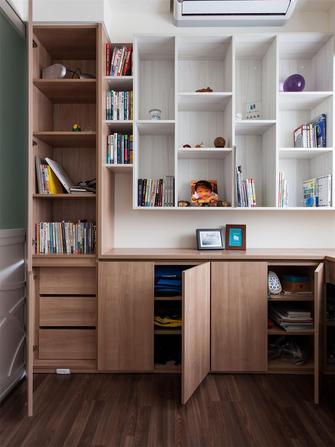 80平米三室五厅现代简约风格书房图