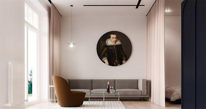 50平米小户型英伦风格客厅图片大全