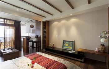 50平米一室一厅东南亚风格卧室装修图片大全
