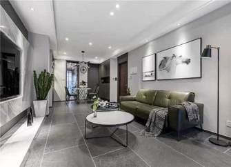 120平米现代简约风格客厅欣赏图