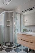 80平米一居室北欧风格卫生间图片