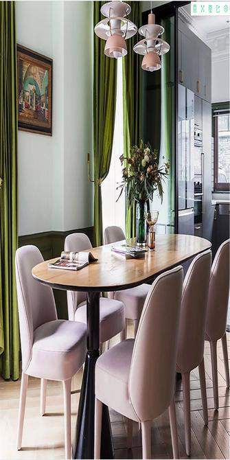 120平米一室一厅新古典风格餐厅装修案例